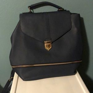 Navy backpack.